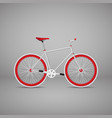 retro bike is red eps10 vector image