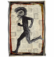 run punk run - an hand drawn freehand sketching vector image vector image