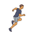 runner athlete male character vector image vector image