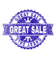 scratched textured great sale stamp seal with vector image vector image