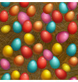 seamless background happy easter holiday vector image
