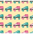 seamless pattern with retro skates vector image vector image