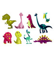 set dinosaurs baby cute print sweet dinos vector image vector image