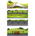 set of national park scene vector image vector image