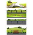 set of national park scene vector image vector image
