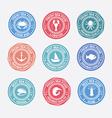 Set of vintage and modern seafood logo restaurant vector image vector image