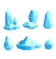 set pieces and crystals ice icebergs vector image vector image