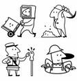 set profession people work vector image