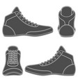 set with wrestling shoes vector image