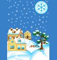 snowy vector image
