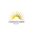 sun logo and symbols star icon web vector image vector image