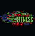 the best components of skill related fitness text vector image vector image