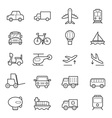 Transportation Icons Line vector image