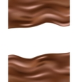 Wavy chocolate background EPS 10 vector image vector image