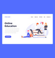 web design flat modern template - online education vector image