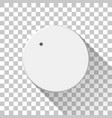 white technology volume knob vector image vector image