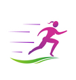 Woman running fast Abstract concept of fast vector image