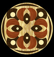 wooden inlay light and dark wood patterns in vector image