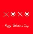 xoxo hugs and kisses sign symbol mark love white vector image