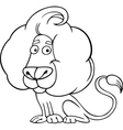 zodiac leo or lion coloring page vector image
