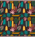 abstract seamless pattern with tropical leaves vector image