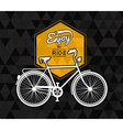 Bike concept poster bicycle low poly background vector image
