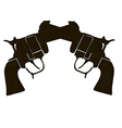 Black and White Crossed Gun vector image vector image