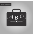 black and white style icon of school bag backpack vector image vector image