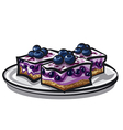 blueberry cake vector image vector image