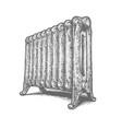 cast iron household radiator vector image