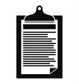 check paper tax icon simple style vector image vector image