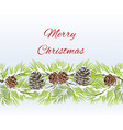 christmas and new year decorative seamless vector image vector image