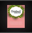 christmas bokeh badge decoration poster template vector image