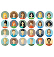 Circle icons set of men and women vector image