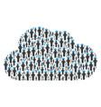 cloud figure of gentleman akimbo icons vector image vector image