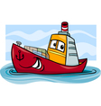 container ship cartoon vector image vector image