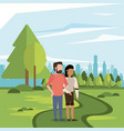 couple man and woman vector image vector image
