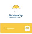 creative umbrella logo design flat color logo vector image