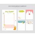 Cute Daily Calendar Template vector image vector image