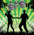 dance grunge background vector image vector image
