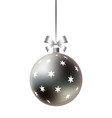 decorative christmas ball with ribbon and bow vector image vector image