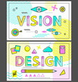 design and vision collection vector image