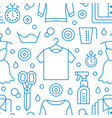 dry cleaning laundry blue seamless pattern with vector image vector image