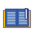 education book object to learn and study vector image