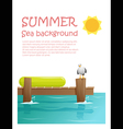 Enjoy tropical summer holiday background 2 vector image