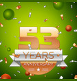 fifty three years anniversary celebration design vector image