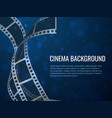 film strip roll poster movie production with vector image vector image