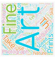 Fine Art Photography text background wordcloud vector image vector image