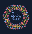 flower wreath spring sale womens day march 8 vector image vector image