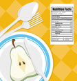 Food digital design vector image vector image